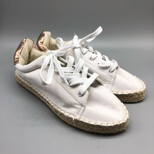 ASOS canvas metallic espadrille flats sneakers